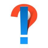 Pytania i okrzyka oceny Zdjęcia Stock