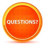 Pytania? Naturalny Pomarańczowy Round guzik ilustracja wektor