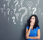 pytania oceny kobieta Zdjęcie Stock