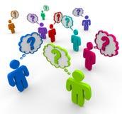 pytania zaludniają pytań target2080_1_ Zdjęcia Royalty Free