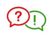 Pytanie i odpowiedź bąbla ikona ilustracja wektor