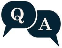 Pytanie I Odpowiedź Q mowa balonu ikona ilustracja wektor
