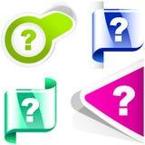 Pytanie ikona. Zdjęcie Stock