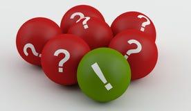 Pytanie ocena z exlclamation Obraz Stock