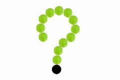 pytanie zielona tenisowa piłka Obrazy Royalty Free