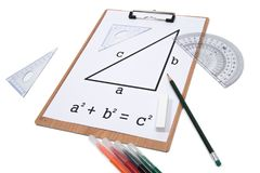 Pythagoräisches Theorem stockbild