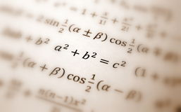 Pythagoras equation Stock Images