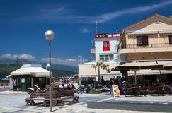 Pythagoras square in Samos Town. Greece. View of the Pythagoras square of the Greek island of Samos. Samos Town Stock Photography