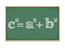 Pythagoras' Theorem. On a blackboard Stock Images
