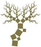 Pythagoras tree Royalty Free Stock Photo