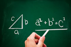 Pythagorean theorem Royalty Free Stock Image