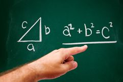 Pythagorean theorem Stock Photo