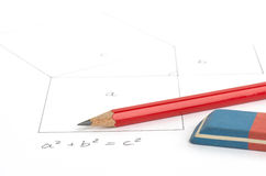 Pythagorean theorem Royalty Free Stock Photos