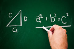 Pythagorean theorem Royalty Free Stock Images