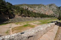 Pythian stadion Delphi royaltyfri foto