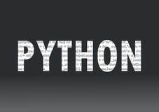 Python语言标志 免版税库存照片