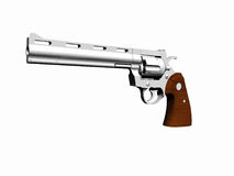 Python 8in Hunter handgun. 3D render, illustration of a gun. High resolution picture over white. Python 8in Hunter handgun stock illustration