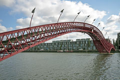 Python bridge in Amsterdam Netherlands Stock Images