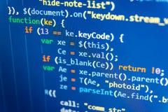 Python de code van de programmeringsontwikkelaar Jonge commerciële bemanning die met opstarten werken stock fotografie