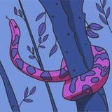 Python in de stijl van cyberpunk Vector illustratie vector illustratie