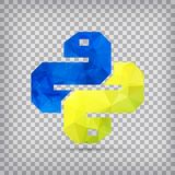 Python Icon isolated on background. Trendy snake vector symbol f. Python Icon isolated on chequered background. Trendy snake vector symbol for web site design or Royalty Free Stock Photo