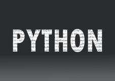 Python language sign Royalty Free Stock Photos