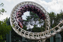 Efteling Python roller coaster Stock Photo