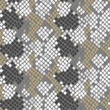 Python snake skin artificial seamless vector texture. Stock Photo