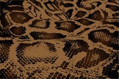 Pythonschlange - abstraktes Muster des Vektors stock abbildung