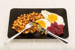 Pytt ι panna, ένα δημοφιλές Σκανδιναβικό πιάτο στοκ φωτογραφίες με δικαίωμα ελεύθερης χρήσης