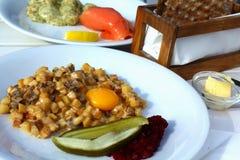 Pyttipanna - популярное блюдо в Швеции Стоковое фото RF