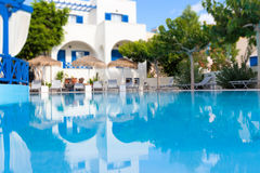 Pływacki basen z odbiciem Zdjęcie Royalty Free