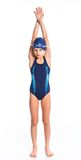 Pływaczki młoda dziewczyna Zdjęcie Stock