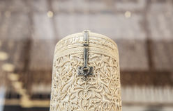 Pyxis de Zamora, boîte ene ivoire antique Images stock