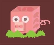 Pyzaty różowy prosiątko ilustracja wektor