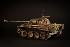 Pz tedesco del carro armato Kpfw V pantera D Fotografie Stock