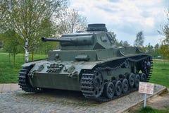 PzKpfw III Ausf Réservoir allemand moyen rare de C de WWII Images libres de droits