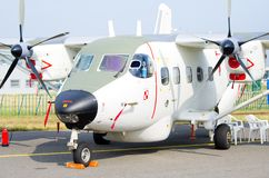 PZL在拉多姆Airshow,波兰的M28 Bryza 免版税图库摄影