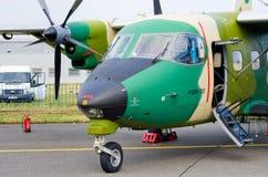 PZL M28 Bryza su Radom Airshow, Polonia immagini stock