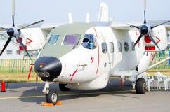 PZL M28 Bryza su Radom Airshow, Polonia fotografia stock libera da diritti