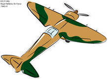 PZL P-24G WW2 Kampf-Flugzeug stock abbildung