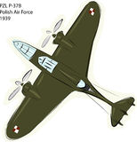 PZL P-37B WW2 Combat Plane Royalty Free Stock Photo