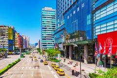 Q正方形商城入口在台北 库存照片