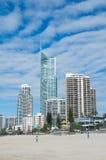 Q1 πύργος στον παράδεισο Surfers στο Gold Coast στοκ φωτογραφία με δικαίωμα ελεύθερης χρήσης