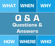 Q и голубая решетка Стоковая Фотография