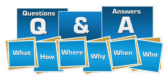 Q и синь придают квадратную форму нашивкам Стоковая Фотография RF