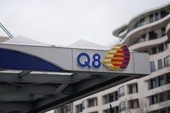 Q8加油站 免版税库存照片