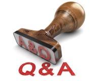 Q&A стоковое изображение rf