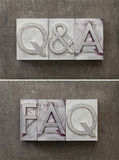问题和解答- Q&A 免版税库存图片
