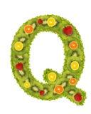 q alfabetu owoców Zdjęcie Stock